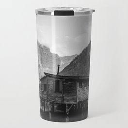 House on Water (Black and White) Travel Mug
