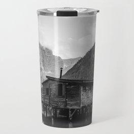 House on Water (Black and White) Travel Mug