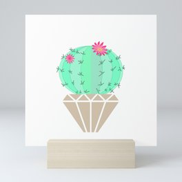 Round cactus in the goshka Mini Art Print