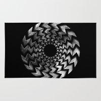lunar Area & Throw Rugs featuring Lunar Illusion by Dianne Delahunty