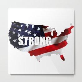 America Strong Metal Print