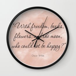 Freedom & Books Wall Clock