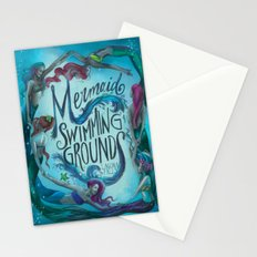 Mermaid Swimming Grounds Stationery Cards