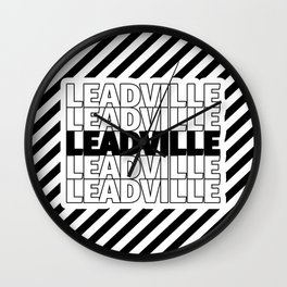 Leadville USA CITY Funny Gifts Wall Clock