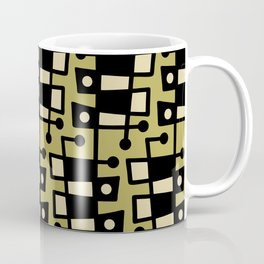 Mid Century Modern Abstract 212 Chartreuse Coffee Mug