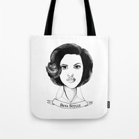 scully Tote Bags featuring Dana Scully by Colleen Parker