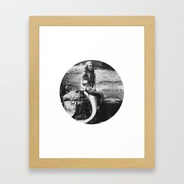 Mermaid with Baby Framed Art Print