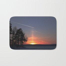Flying at sunset Bath Mat