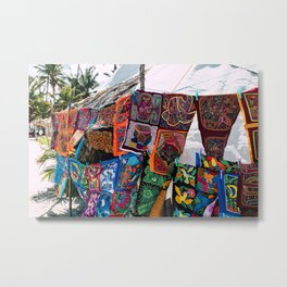 Color in the Wind Metal Print