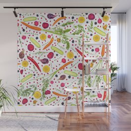 Fruits and vegetables pattern (21) Wall Mural