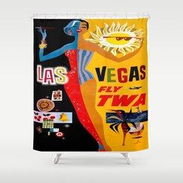 Vintage poster - Las Vegas Shower Curtain