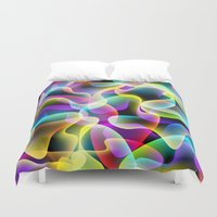psychadelic Duvet Covers featuring colorful swirls by Ancello