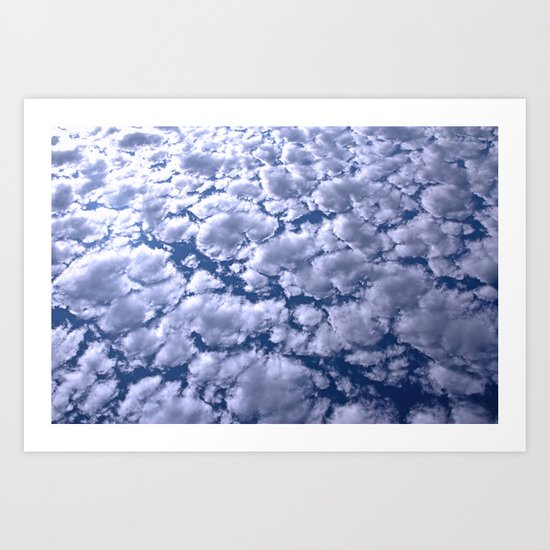counting clouds Art Print