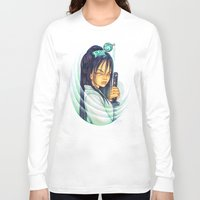 gemma correll Long Sleeve T-shirts featuring Samurai by Gemma Pallat by ToraSumi
