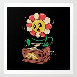 Vinyl Flower Art Print
