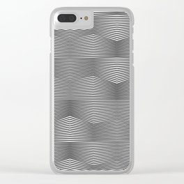 Moiré Waves One Clear iPhone Case