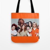 oitnb Tote Bags featuring OITNB by I Love Decor