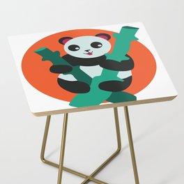 Bamboosled orange Side Table
