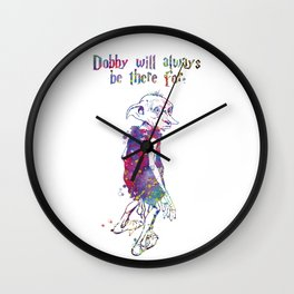 Dobby Quote Wall Clock