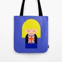 tyler spangler Tote Bags featuring Rose Tyler by Kellyanne