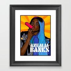 Azealia Banks Blows Up! Framed Art Print