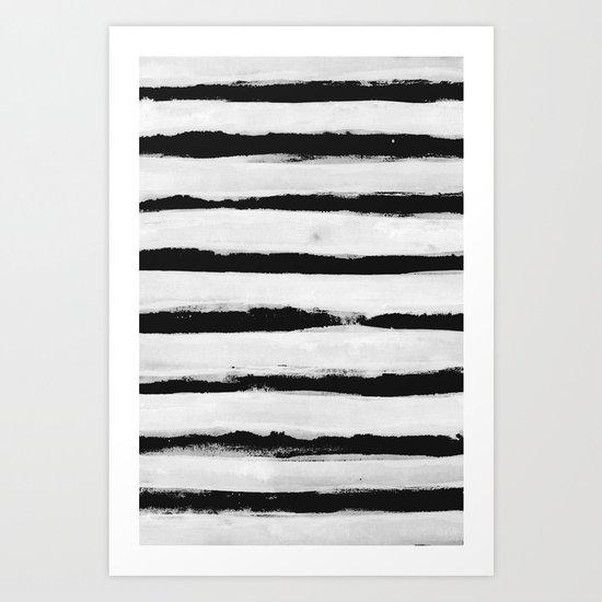 BW Stripes Art Print