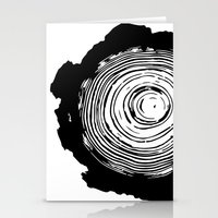 tree rings Stationery Cards featuring Tree Rings by vogel