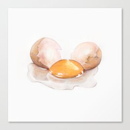 Color pencil Egg Canvas Print