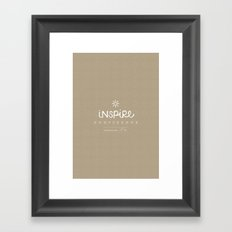 Inspire Confidence Framed Art Print
