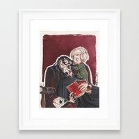 snape Framed Art Prints featuring Babysitting - Snape and Draco by CaptBexx