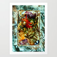 metallic Art Prints featuring Metallic by Vargamari