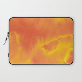 Watercolor texture - yellow and orange Laptop Sleeve