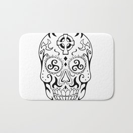 Mexican Skull Triskele Celtic Cross Tattoo Bath Mat