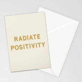 Radiate positivity Stationery Cards