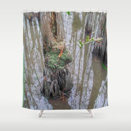 The  Swamp Fairy's Home Shower Curtain