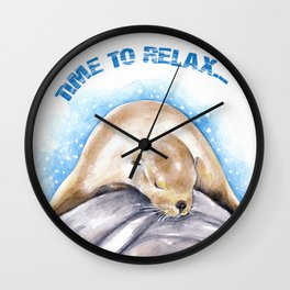 Time To Relax Wall Clock