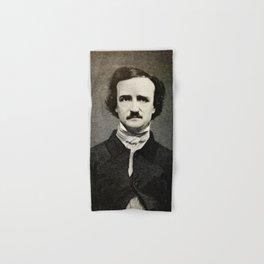 Edgar Allan Poe Engraving Hand & Bath Towel
