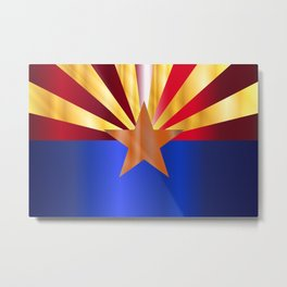 Metal Arizona State Flag Metal Print