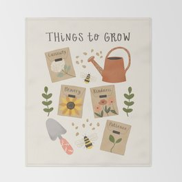 Things to Grow - Garden Seeds Throw Blanket