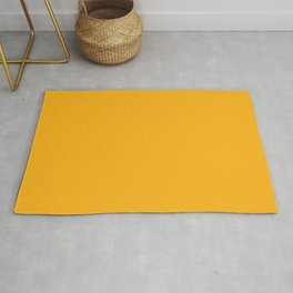 Bright Beer Yellow Simple Solid Color All Over Print Rug