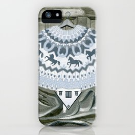 Sweater with Horses iPhone Case