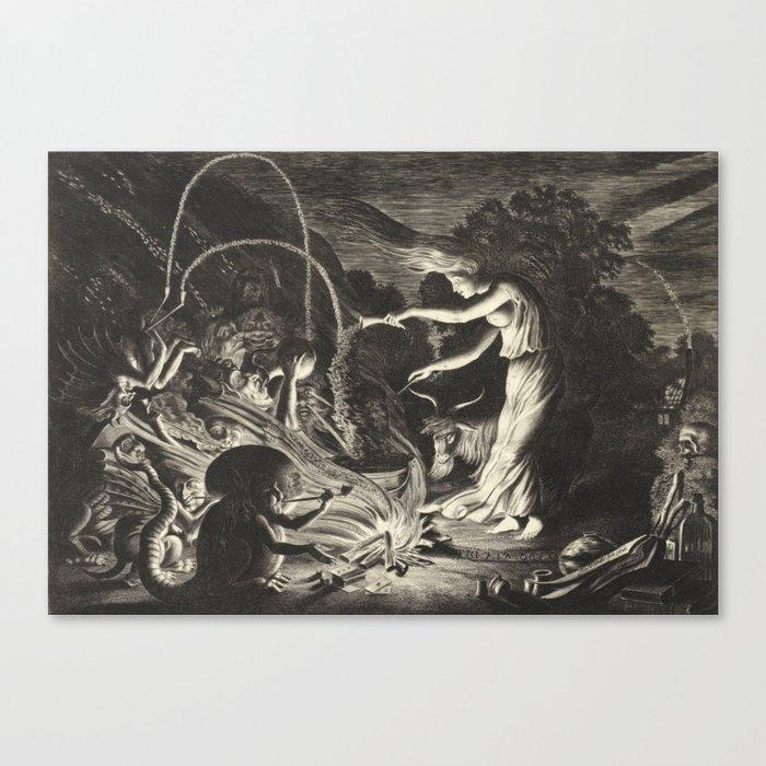 Witch - 17th Century Illustration Leinwanddruck