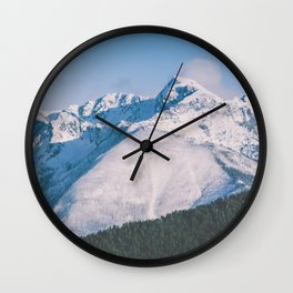 Snow Capped Peaks Wall Clock