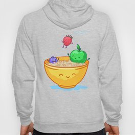 Fruit and oatmeal (Best friends. Character set.) Hoody