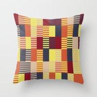 bauhaus Throw Pillows featuring Bauhaus by ohkj