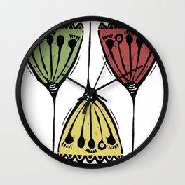 3 Dandelions Wall Clock