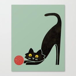 Fitz - the curious cat Canvas Print