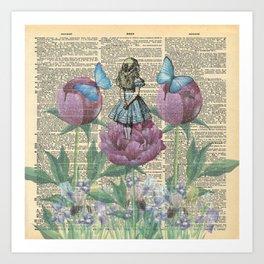 Alice In Wonderland - Wonderland Garden Art Print