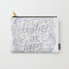 Anything can happen Blue Carry-All Pouch