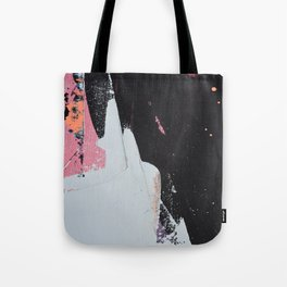 Profoundly [2]: a vibrant abstract piece in blues magenta and orange by Alyssa Hamilton Art Tote Bag